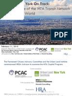 ULI NY-PCAC MTA Capital Program Report