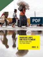 Hardship Hope and Resettlement