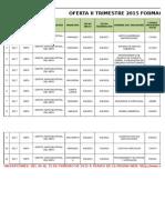 Oferta Educativa II Trimestre 2015
