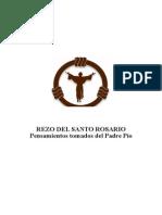 Santo Rosario- Pensamientos Tomados de Padre Pío
