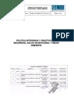 Politica Integrada y Objetivos Ssoma Cosapi