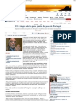 PD - UE  Alegre alerta para perda de peso de Portugal