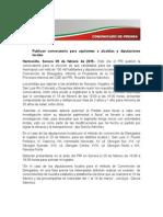 09-02-15 Publican convocatoria para aspirantes a alcaldías y diputaciones locales