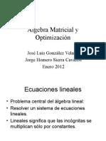 Algebra Lineal y Optimizacion 01