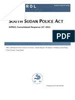 South Sudan Police Act (CR 07-001)