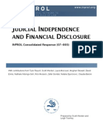 Judicial Independence and Financial Disclosure (CR 07-003)