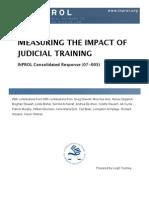 Measuring the Impact of Judicial Training (CR 07-005)
