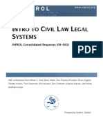Intro to Civil Law Legal Systems (CR 09-002)