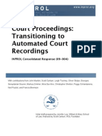 Court Proceedings: Transitioning to Automated Court Recordings (CR 09-004)