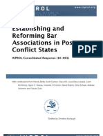 Establishing and Reforming Bar Associations in Post-Conflict States (CR 10-001)