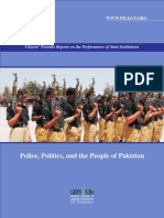 Performance of Police, Politics and People of Pakistan