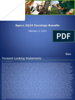 Sysco Slides 2Q15 FINAL2
