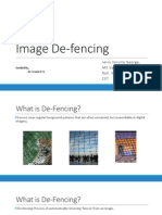 Fence Removal From Images