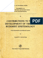 Contributions to the Development of Tibetan Buddhist Epistemology