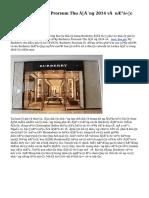 Ra mắt Burberry Prorsum Thu Đông 2014 và nước hoa My Burberry