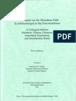 The Chapter on the Mundane Path (Laukikamarga) in the Sravakabhumi Vol 1