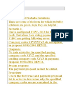 FI Errors and Probable Solutions These Are