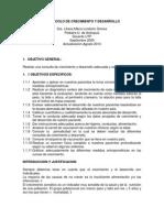 Protocolo de Crecimiento y Desarrollo II 2013