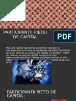 Participanții Pieței de Capital