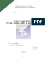 Preda Mihai Peninsula Coreeana - Analiza Geopolitica Si Geoeconomica