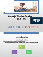 Resolusión de  Conflictos Enero 2015