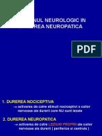 Durerea neuropatica
