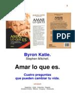 Byron Katie Amar Lo Que Es