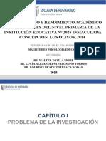 AUTOCONCEPTO Y RENDIMIENTO ACADÉMICO EN ESTUDIANTES DEL NIVEL PRIMARIA DE LA INSTITUCIÓN EDUCATIVA N° 2025 INMACULADA CONCEPCIÓN. LOS OLIVOS, 2014