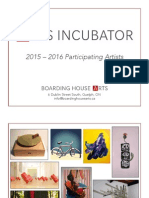 Boarding House Arts Incubator 2015-16 Residents