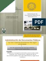 Administración de Documentos Públicos en la Rama Ejecutiva