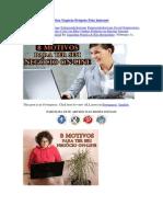 8 Motivos Para Ter Seu Negócio Próprio Pela Internet