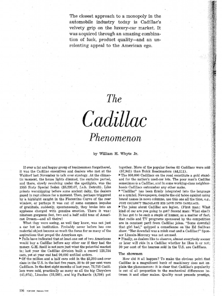 The Cadillac Phenomenon Lincoln Motor Company Automobiles Murdered Out 1955