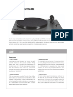 Data Sheet - C 556 Turntable