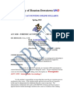Online Forensic Accounting Spring 2015 Syllabus -- FINAL