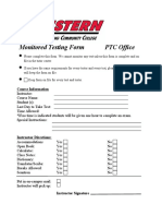 New Monitored Testing Form 2010