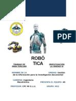 Investigación robotica