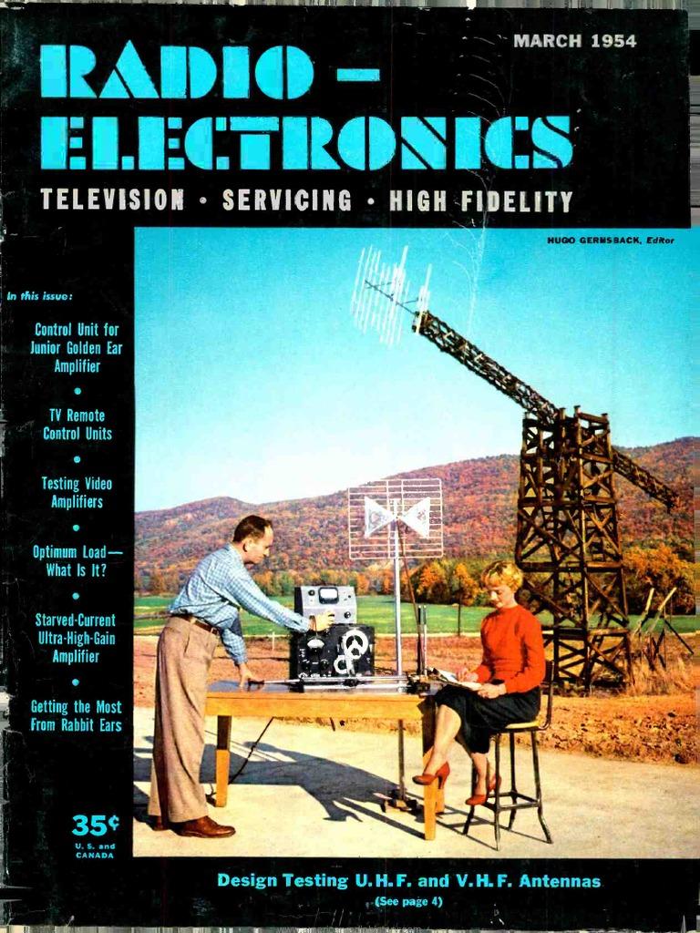 Radio Electronics 1954 03 Vacuum Tube Television Taco 1632 Wiring Diagram