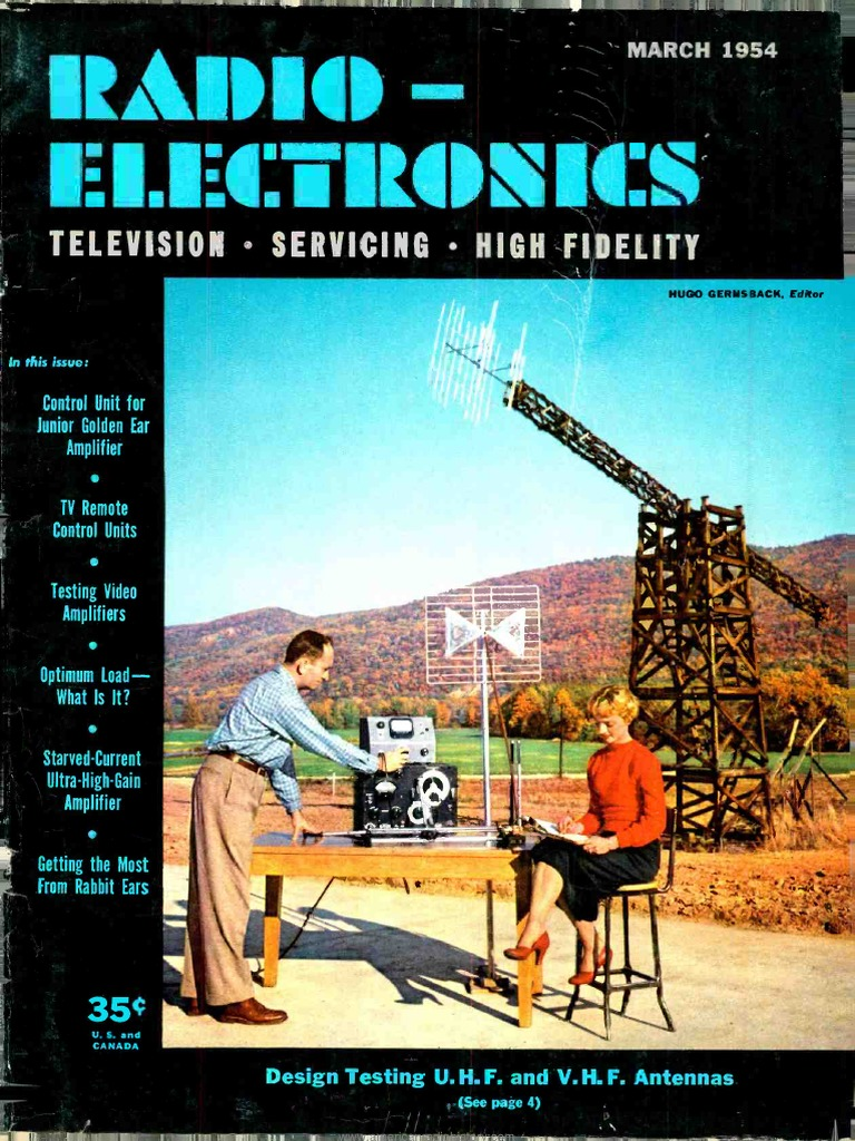 Radio Electronics 1954 03 Vacuum Tube Television Let39s Take A Look At Sample Circuit Consisting Of Three 2000ohm