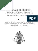 SEMNALE SI ORDINE FRANCMASONICE SECRETE TRANSMISE PRIN PRESA