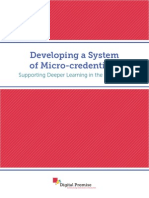Developing a System of Micro-credentials