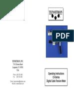Manual de Operación Tensiómetro