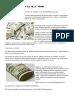 DIFERENTES TIPOS DE  PRESTAMOS