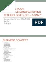 Joe O Business Plan
