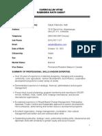 RabindraSabat CV Scribd