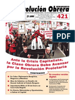 Semanario Revolución Obrera Edición 421