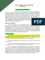 Vital Notes on Tariff and Custom Code