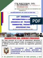 LEY ORGANICA DE REFORMA A LA LEY ORGANICA DE TRANSPORTE TERRESTRE TRANSITO Y SEGURIDAD VIAL - copia.pptx