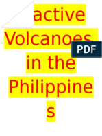Inactive Volacano