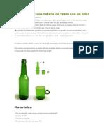 Cómo Cortar Una Botella