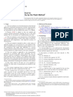 ASTM E1461 Standard Test Method for Thermal Diffusivity by the Flash Method